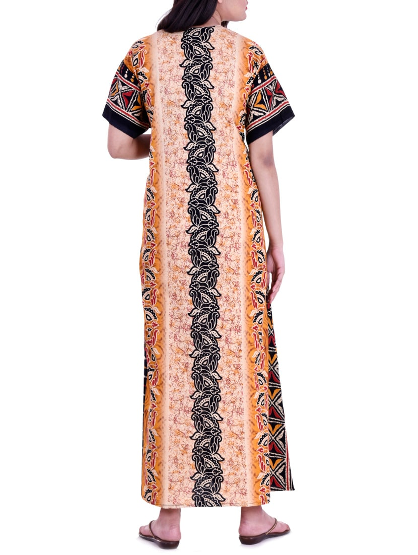 937e7e5b01 Buy Multi Colored Nightwear Gown by Indian Handicraft - Online ...