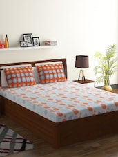 100% Cotton Double Bed Printed Bedsheet With 2 Pillow Covers -  online shopping for bed sheet sets