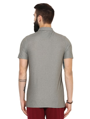 grey cotton pocket t-shirt - 14880151 - Standard Image - 3