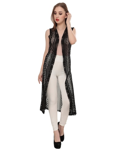 black crocheted shrug - 14882833 - Standard Image - 1