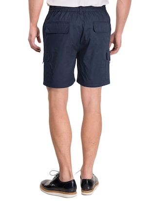 navy blue cotton shorts - 14883286 - Standard Image - 3