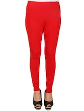 solid red cotton legging -  online shopping for Leggings