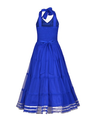 blue net party gown - 14885035 - Standard Image - 3