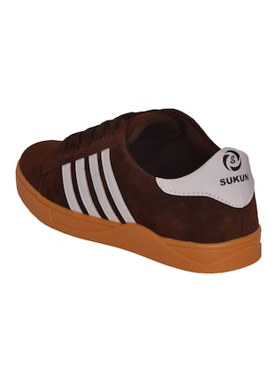 brown Suede lace up sneaker - 14885086 - Standard Image - 3