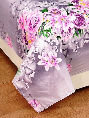 3D PolyCotton Double Bed Sheet with 2 Pillow Covers - 14886719 - Standard Image - 3