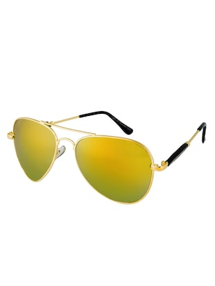 Amour Propre Yellow New Era Aviator Sunglass For Unisex - 14887413 - Standard Image - 3