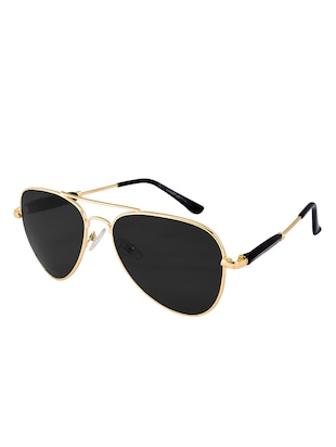 Amour Propre Black New Era Aviator Sunglass For Unisex - 14887414 - Standard Image - 3