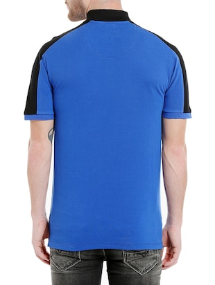 blue cotton pocket t-shirt - 14887434 - Standard Image - 3