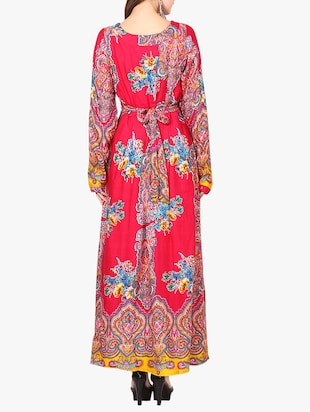 red printed maxi dress - 14887791 - Standard Image - 3