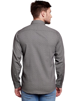 grey cotton casual shirt - 14888557 - Standard Image - 3