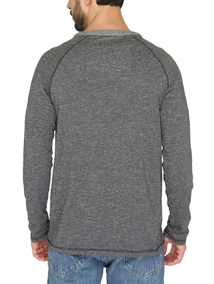 grey cotton raglan t-shirt - 14888857 - Standard Image - 3