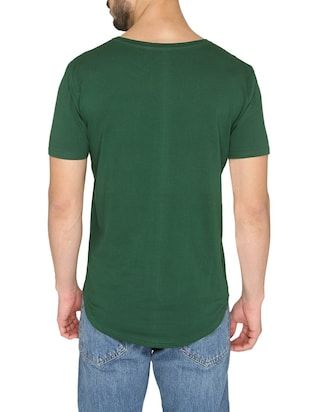 green cotton front print t-shirt - 14888878 - Standard Image - 3