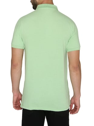 green cotton  t-shirt - 14888965 - Standard Image - 3