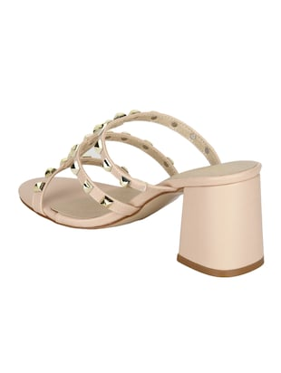 nude patent leather slip on sandals - 14889013 - Standard Image - 3