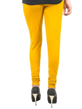 yellow solid leggings - 14889521 - Standard Image - 3