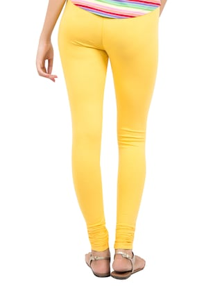yellow solid leggings - 14889522 - Standard Image - 3