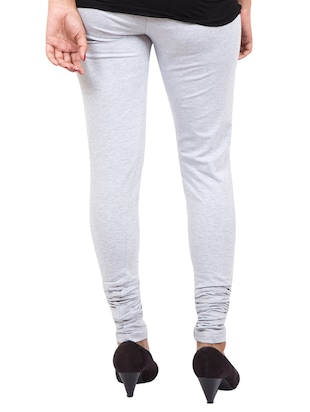 grey solid leggings - 14889533 - Standard Image - 3