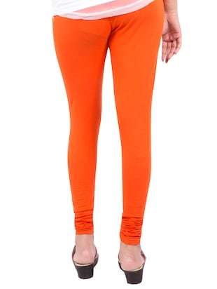orange solid leggings - 14889534 - Standard Image - 3