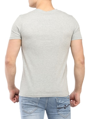 grey cotton t-shirt - 14890012 - Standard Image - 3