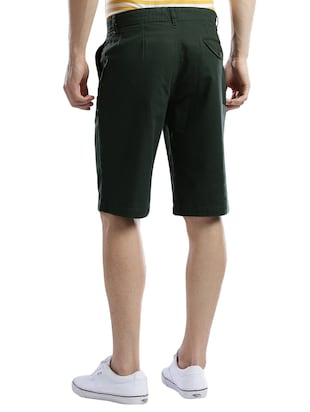 green cotton shorts - 14890547 - Standard Image - 3