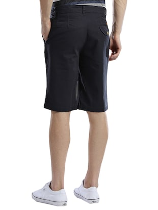 navy blue cotton shorts - 14890608 - Standard Image - 3