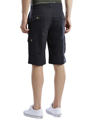 navy blue cotton shorts - 14890610 - Standard Image - 3