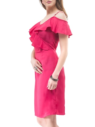 pink solid sheath dress - 14890916 - Standard Image - 3