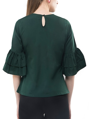 Frilled sleeved top - 14891637 - Standard Image - 3