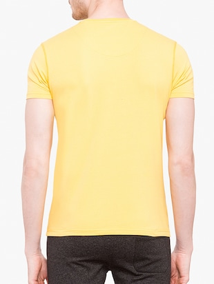 yellow cotton front print tshirt - 14891856 - Standard Image - 3