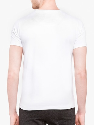 white cotton front print tshirt - 14891860 - Standard Image - 3