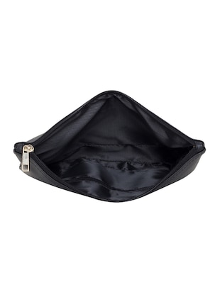 black leatherette  regular pouch - 14893314 - Standard Image - 3