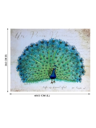 Dancing Peacock Canvas Painting - 14893950 - Standard Image - 3