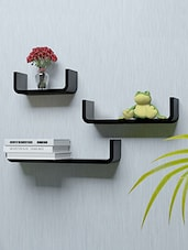 Set of 3 U Shape Wall Shelves -  online shopping for Wall Shelves