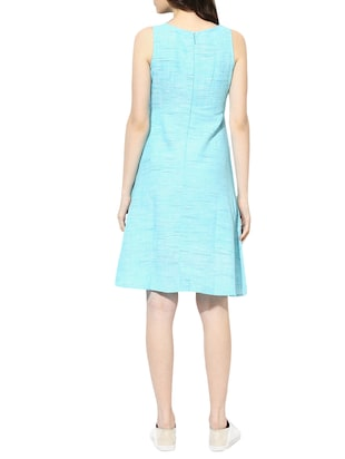 light blue cotton aline dress - 14894717 - Standard Image - 3
