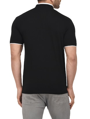 black cotton pocket t-shirt - 14895216 - Standard Image - 3