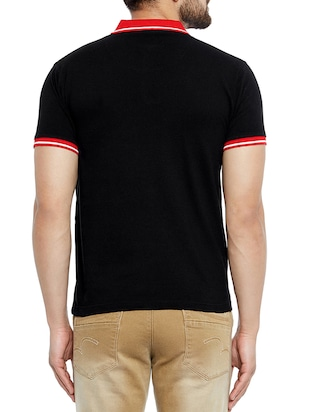 black cotton t-shirt - 14896178 - Standard Image - 3