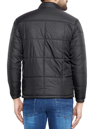 black polyester quilted jacket - 14896184 - Standard Image - 3