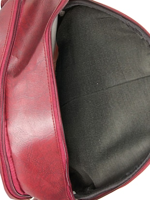red leatherette backpack - 14898487 - Standard Image - 3