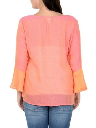 pink pure silk plus top - 14898939 - Standard Image - 3