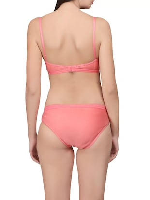 pink hosery bra and panty set - 14901450 - Standard Image - 3