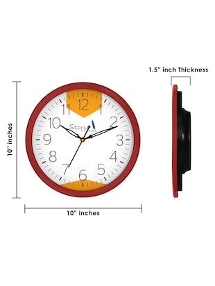 Glass Round Shape Wall Clock - 14901830 - Standard Image - 6