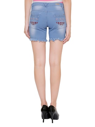 light blue denim short - 14901999 - Standard Image - 3