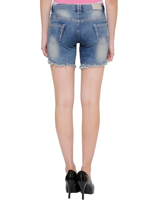 blue denim hot pants short - 14902006 - Standard Image - 3