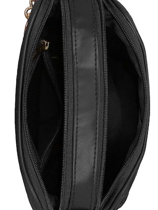 black leatherette regular sling bag - 14903026 - Standard Image - 3