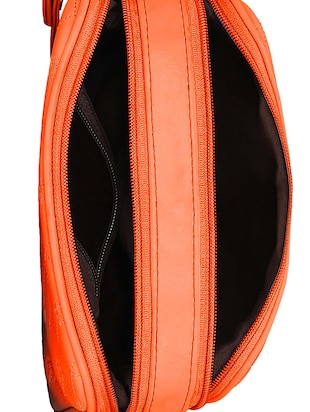 orange leatherette  regular sling bag - 14903027 - Standard Image - 3