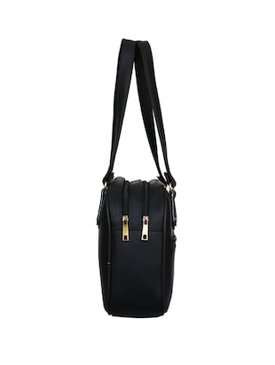 black leatherette regular handbag - 14903449 - Standard Image - 6