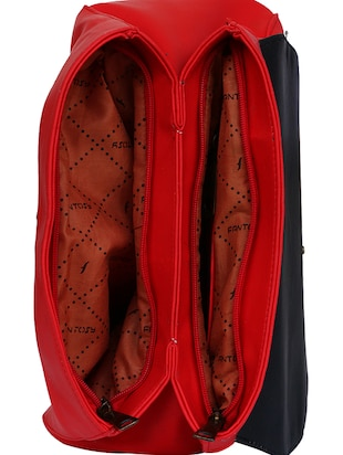 red leatherette  regular handbag - 14903455 - Standard Image - 3