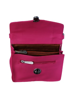 pink leatherette  regular sling bag - 14903493 - Standard Image - 3