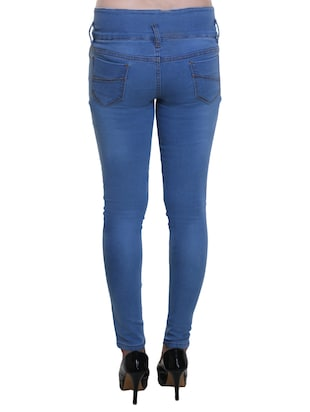 blue high rise denim jeans - 14904985 - Standard Image - 3