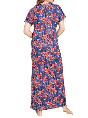 multi colored satin nightwear gown - 14905859 - Standard Image - 3